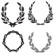 Royalty-Free Stock Imagen vectorial: Vector wreaths set
