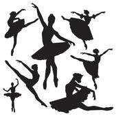 Ballet vector silhouettes — Stock Vector