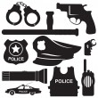 Police equipmen vector — Stock Vector