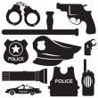 Stock Vector: Police equipmen vector