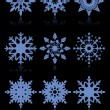 Snowflakes vector set — Vettoriali Stock