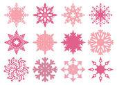 Conception de flocons de neige — Vecteur