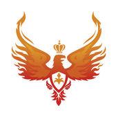Imperial Phoenix vector image — Stock Vector