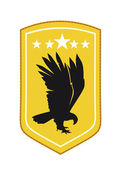 eagle emblem vector — Stock Vector
