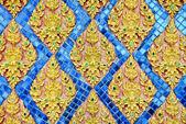 Tajski stiuk styl wzór na ścianie — Foto de Stock