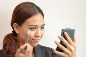 Make Up. asian woman wearing make up — Stock Photo