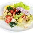 Stock Photo: Vegetable salad on plate isolated on white