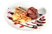 Dessert. Fruit and icecream — Stock Photo