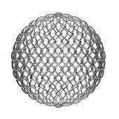 Ball from metalic mesh — Stock Photo