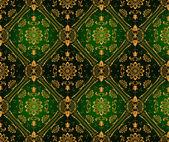 Retro green wallpaper. Seamless — Stock Vector