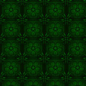 Floral green wallpaper. Seamless — Vecteur