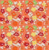 Bloemen wallpaper. naadloze — Stockvector