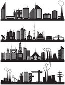 Urban and industrial buildings — Stock Vector
