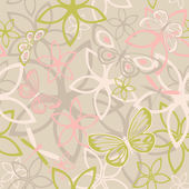 Floral butterfly abstract background, seamless — Stock Vector