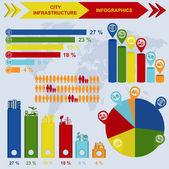 Set of elements infrastructure city, vector infographics — Stock Vector