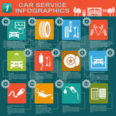 Car service, repair Infographics — Stock Vector
