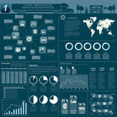 Car service, repair Infographics — ストックベクタ