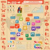 Car service, repair Infographics — Stok Vektör