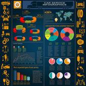 Car service, repair Infographics — Vetorial Stock