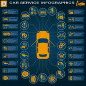 Car service, repair Infographics — ストックベクタ