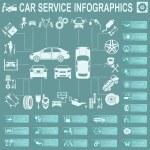 Car service, repair Infographics — Stock Vector #47571845
