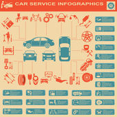 Car service, repair Infographics — Vector de stock