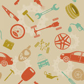 Car service and some types of transportation background — Vettoriale Stock