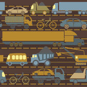 Car service and some types of transportation background — Stock Vector