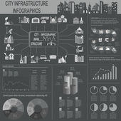 Sada prvků infrastruktury města, vektorové infografika — Stock vektor