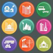 Set of icons infrastructure city — Stockvektor
