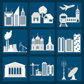 Set of icons infrastructure city — Stock Vector