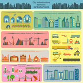Set of modern city elements for creating your own maps of the ci — Stock Vector