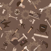 Metal work tools background. Seamless, pattern — Vettoriale Stock