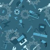 Metal work tools background. Seamless, pattern — Vector de stock