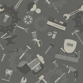металлические инструменты фон. бесшовные — Cтоковый вектор