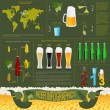 Beer infographics, set elements, for creating your own infograph — Stock Vector #49755633