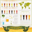 Beer infographics, set elements, for creating your own infograph — Stock Vector #49755725