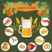 Beer snack  infographics — Stock Vector