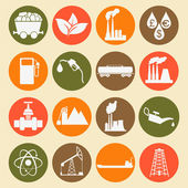 Set 16 fuel and energy icons — Stock Vector