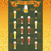 Beer menu set, creating your own infographics — Stock Vector