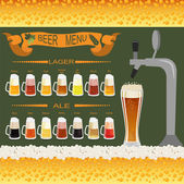 Beer menu set, creating your own infographics — Stockvector