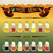 Beer menu set, creating your own infographics — Stock Vector