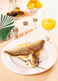 Roasted fillet of Dorada fish — Stock Photo