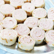 Stock Photo: Rolls with stuffing made of butter and seafoods
