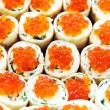 Stock Photo: Rolls with salmon roe