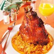 Pork shank with braised cabbage — Stock Photo #13935120