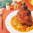 Pork shank with braised cabbage — Stok fotoğraf