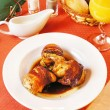 Quail carcasses stuffed with rice — Lizenzfreies Foto