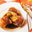Quail carcasses stuffed with rice — Stok fotoğraf