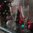 Champagne is being poured into glasses — Stock Video